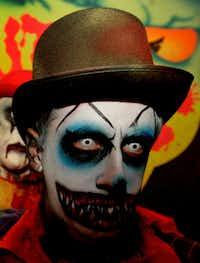 Creepy clowns await at Cutting Edge Haunted House. photos by ronjenkinsphoto.com(STAR TELEGRAM)