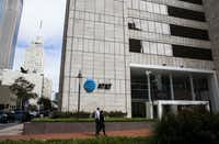 The corporate headquarters of AT&T, including  Whitacre Tower, houses 5,700 workers.(Ashley Landis/Staff Photographer)