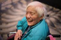 "In this Feb. 25, 2014, photo, long-time activist Grace Lee Boggs speaks to a crowd gathered for the Environmental Grantmakers Association conference in Detroit. Boggs, known as an international activist for justice, died at her Detroit home. She was 100. (<p><span style=""font-size: 1em; background-color: transparent;"">Ryan Garza/Detroit Free Press via AP</span><br></p><p></p>)"