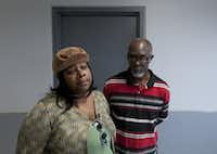Takeysha Harper and fiancee Varning Keys Sr. attended a 2011 hearing at the Henry Wade Juvenile Justice Center for a 14-year-old boy who was being held in connection with the killing of her son. (DMN file photo)