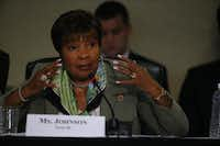 "<p>""She was a pioneer,"" Mayor Mike Rawlings said of U.S. Rep. Eddie Bernice Johnson. ""She is a heroine of Dallas like few have ever been.""</p>(2014 File Photo/Nathan Hunsinger)"