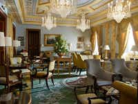 "Sparkling chandeliers and a sunny palette of colors make The Withdrawing Room at The Lanesborough a favorite place for afternoon tea. (<p><span style=""font-size: 1em; background-color: transparent;"">Courtesy The Lanesborough, The Oetker Collection</span></p>)"