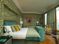 Brown's Hotel debuted The Kipling Suite in April. Botanical print wallpaper adorns the bedroom walls. (Brown's Hotel, Rocco Forte Hotel)