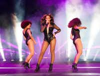 Beyonce performs on the On The Run Tour at the AT&T Stadium on Tuesday, July 22, 2014, in Dallas, Texas. (Photo by Rob Hoffman/Parkwood Entertainment/PictureGroup).