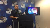 Maj. Jimmy Vaughan announced Thursday that police have a 15-year-old boy in custody, though another suspect remains at large in a sex assault that occurred Sept. 18. (Naheed Rajwani/Staff)