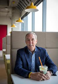 David Pace, CEO of Jamba Juice, photographed at the company's new headquarters in Frisco. (G.J. McCarthy/The Dallas Morning News)(Staff Photographer)