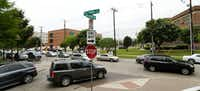 Drivers heading north on McKinney Avenue hit normal congestion around North Dallas High School as school gets out on a Friday afternoon. (File Photo/Tom Fox)
