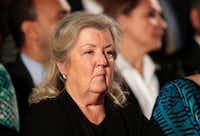 Juanita Broaddrick sits before the town hall debate at Washington University on October 9, 2016 in St Louis, Missouri.(Getty Images)