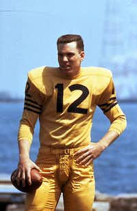 Roger Staubach, the Navy quarterback in the 1963 season, when the Midshipmen played two critically important games in the Cotton Bowl. <div><br></div>