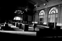 Aside from the lack of waiting benches nowadays, the look of the main waiting hall at Union Station still looks generally like this today.(Dallas Historical Society)