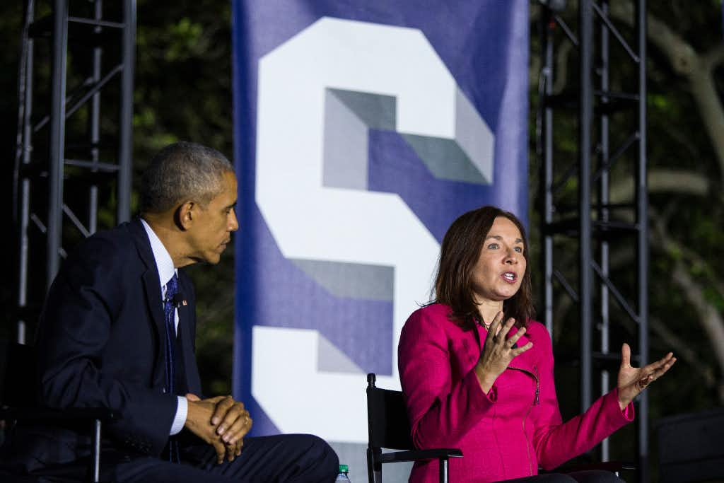 "<p>At a recent White House event with President Barack Obama, Texas Tech climate scientist Katharine Hayhoe touted Texas' wind power: ""Here's the cool thing about Texas. Did you know that already Texas is getting 10 percent of its electricity from wind?"" (Al Drago/The New York Times)</p><p><br></p>"
