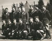 Gen. William Donovan, OSS founder, and members of the OSS Operational Groups, forerunners of U.S. Special Forces, are shown at Congressional Country Club in Bethesda, Md., which served as an OSS training facility during World War II. (Charles Pinck)