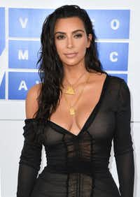Kim Kardashian West was photographed at the MTV Video Music Awards in New York in August. (Angela Weiss/Agence France-Presse)