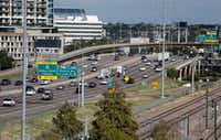 Interstate 35E north of downtown Dallas(Rose Baca/Staff Photographer)