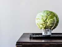 Beer Can Cabbage before grilling(Rebecca White)