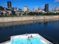Bota Bota is a floating spa in the heart of Montreal s harbor. MONTREAL(Paul Ross)