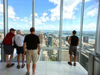 The Au Sommet tower observatory offers a commanding 360o view of Montreal. (Paul Ross)