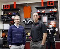 Adam Blumenfeld, left, chairman, chief executive officer; and Terry Babilla, president, chief operating officer and general consul of BSN Sports, at their main headquarters in Dallas. BSN Sports is the largest distributor of team sports apparel and equipment in the U.S. with 2015 sales expected to reach $500 million. (Ben Torres/Special Contributor)