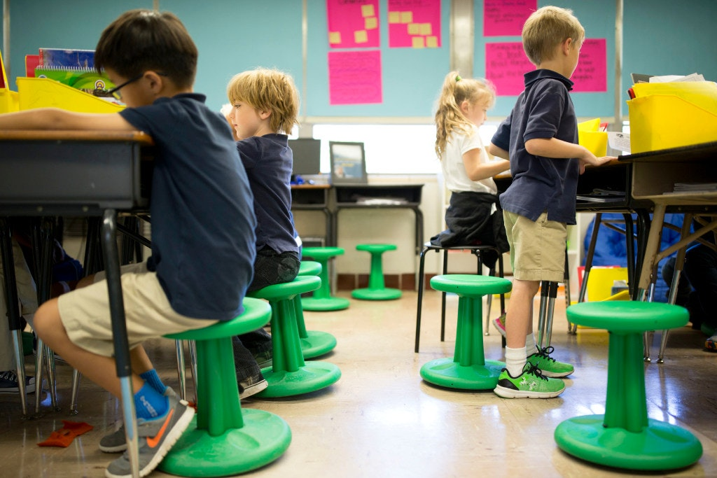 Wobble Chairs Bouncy Balls Let Students Wiggle While They Work