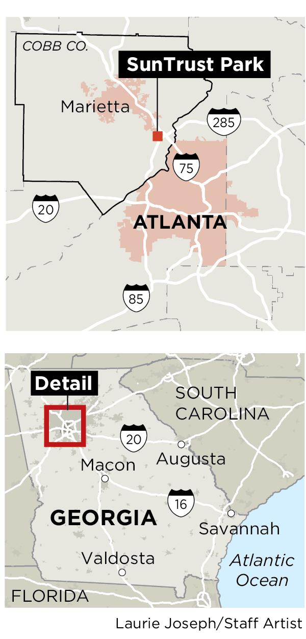 Diamond doubleheader: Atlanta ves' pitch for new stadium ... on diversity map of atlanta, redneck map of atlanta, ethics map of atlanta, activity map of atlanta,