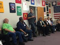<p>Democrat Pete Gallego, seeking to regain the congressional seat he lost to Republican Will Hurd in 2014, spoke to members of the San Antonio AFL-CIO Council about the race this month.</p>(Katie Leslie/Staff)