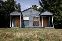 "A vacant house sat on McKenzie Street near the Fair Park neighborhood, one of the areas of Dallas identified as ""high blight"" in a study by University of North Texas researchers. (2013 File Photo/Staff)"