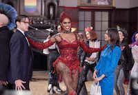 "Laverne Cox as Dr. Frank-N-Furter is the highlight of Fox's lackluster remake of ""The Rocky Horror Picture Show."" (Steve Wilkie, Fox)(Fox)"