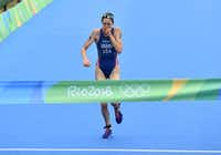 Roka sponsors about 40 athletes, including Gwen Jorgensen, who won the gold medal in the women's triathlon during the Rio 2016 Olympic Games.(LEON NEAL/AFP/Getty Images)
