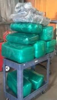 A Texas Department of Public Safety trooper found 196 pounds of marijuana inside a man's car Friday.
