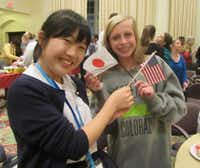 Japanese and American students at a Fort Worth Sister Cities event. (Courtesy of Fort Worth Sister Cities)