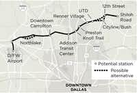 The proposed Cotton Belt(Staff Graphic)