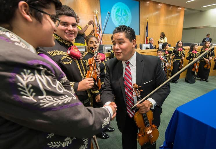 Richard Carranza was named superintendent of Houston ISD, the state's largest school district, in August. With his hiring, four of the state's six largest school districts are led by Latino educators. (Houston ISD)