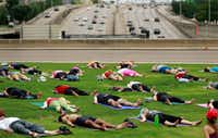 Yoga is a wonderful way to deal with election stress.(Tom Fox/Staff Photographer)