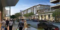 The first shops and restaurants open in the $500 million Legacy West Urban Village in March.(Karahan Cos. )