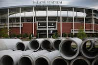 McLane Stadium on the Baylor campus stands tall next to Interstate 35 and the Brazos River in Waco and will remind fans of the success, and anything else, Art Briles left behind.(Andy Jacobsohn/Staff Photographer)