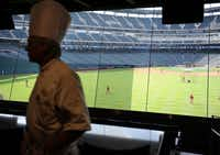 A view from the Hyundai Club, previously the Batter's Eye Club, before a 2012 preseason game at Globe Life Park. (File Photo)
