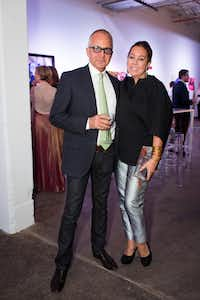 Bernard and Michelle Nussbaumer at Dallas Contemporary in 2013. (Mei-Chun Jau/Special Contributor)