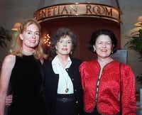 "<p>Field in 1997 <span style=""font-size: 1em; background-color: transparent;"">with Loyd Zisk (left) and Peggy Healy (right) </span><span style=""font-size: 1em; background-color: transparent;"">at the Dallas Children's Theater Cabaret Gala at the Fairmont Hotel (Joe Laird/Special Contributor) </span></p>"