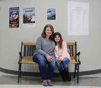 "Skylar O'Mahony, currently a 6th grade student, was diagnosed with dyslexia and was enrolled in ""Take Flight"" classes between the second and fourth grades. Her mother Stacey O'Mahony is a teacher at Wilson Middle School in Plano. (Andy Jacobsohn/The Dallas Morning News)(Staff Photographer)"