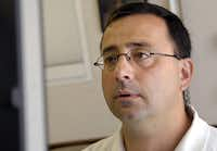 Dr. Larry Nassar, who was fired by Michigan State University in September, has been accused of sexual abuse by gymnasts.(2008 File Photo/The Associated Press)