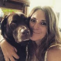 Lisa McCombs with her service dog, Jake.(Courtesy of Lisa McCombs)