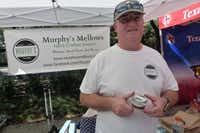 Owen Rock and his wife Hallie own Murphy's Mellows in Pflugerville.  They are now showing at Crescent Court Farmers Market in Dallas.(Kim Pierce)