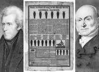 "President John Quincy Adams was challenged by ""Old Hickory,"" war hero Andrew Jackson. The interests backing the incumbent Adams went all out to discredit Jackson. Newspaper columns, leaflets, and handbills called Jackson's mother a prostitute who birthed Jackson by a mulatto father. Jackson's wife was tagged a bigamist, and Jackson himself a murderer. Opponents even went after Jackson's military exploits in the Battle of New Orleans during the War of 1812, a harbinger of the 2004 ""Swift-boating"" of John Kerry.  Jackson's wife, Rachel, was so upset by the tenor of the campaign that she died of a heart attack before she could see her husband inaugurated."
