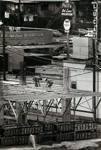 From April 21, 1981: Construction at the corner of Lemmon Avenue and Oak Lawn Avenue rises amid such Oak Lawn landmarks as Phil's Delicatessen.