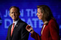 The Pennsylvania U.S. Senate race between Republican Pat Toomey and Democrat Katie McGinty features the unusual distinction of both candidates arguing over who would be more effective in tightening some gun controls. (Matt Rourke/The Associated Press)