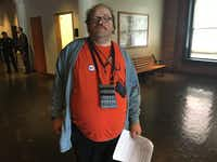 Randy Smith, 43, says he shouldn't be fired over Facebook comments disparaging black people.((Naomi Martin/Staff))
