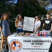 "A photo posted on the YCT-UT (Young Conservatives of Texas-The University of Texas at Austin) Instagram page said, ""Come to the West Mall to buy a cookie from us and talk about the disastrous policy that is affirmative action."""