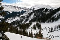 Skiers descend the slopes of New Mexico's Taos Ski Valley. The resort has improved mobile phone coverage enhancing the ability for skiers to post selfies from spots on the mountain.(Dan Leeth, Special Contributor)