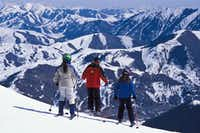 A ski instructor leads her charges down a run at Sun Valley. The 80-year-old Idaho resort adds an additional 21 acres of gladed skiing on Bald Mountain for the upcoming season.(Dan Leeth, Special Contributor)