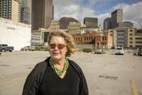Pamela Nelson, photographed Monday, May 19, 2014 in downtown Dallas. (G.J. McCarthy/The Dallas Morning News)(Staff Photographer)